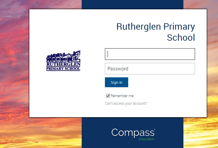 Rutherglen Primary School - Compass Login
